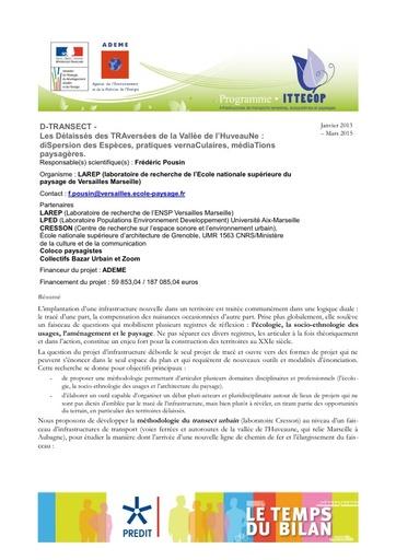Seminaire 2013 Fiche D Transect