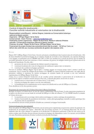 Seminaire 2013 Fiche GRTgaz