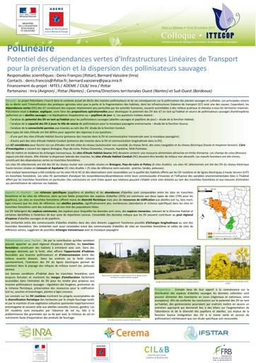 PolLineaire Poster Colloque ITTECOP 2017