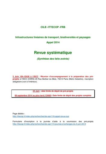2014 appel REVUE SYST CILB ITTECOP FRB