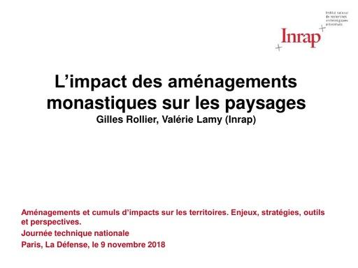 22 L'impact des aménagements monastiques sur les paysages   Gilles ROLLIER et Valérie LAMY   Inrap