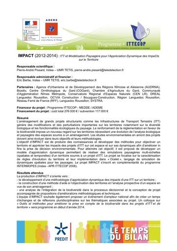 Seminaire 2013 Fiche IMPACT