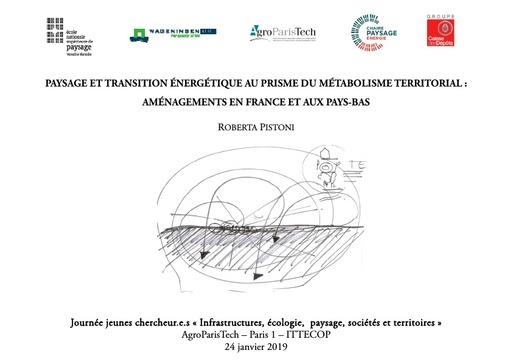 A9 PISTONI Roberta,Paysage et transition énergétique au prisme du métabolisme territorial : aménagements en France et aux Pays-Bas