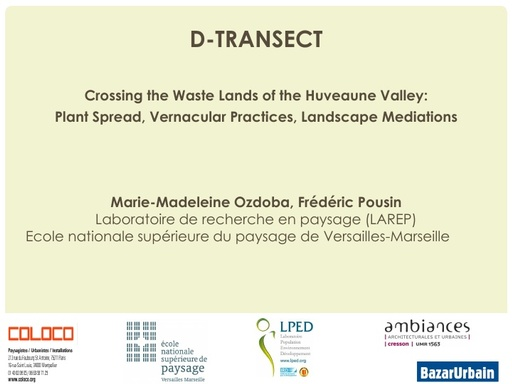 Seminaire 2014 Presentation D Transect
