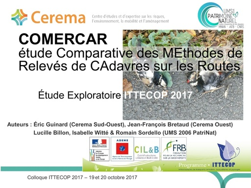 COMERCAR Colloque ITTECOP octobre 2017