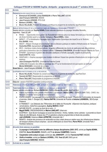 Seminaire 2015 programme