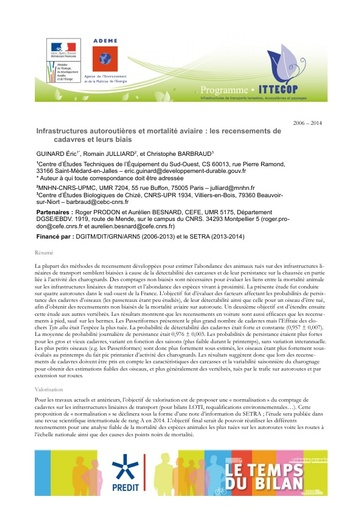 Seminaire 2013 Fiche CETE