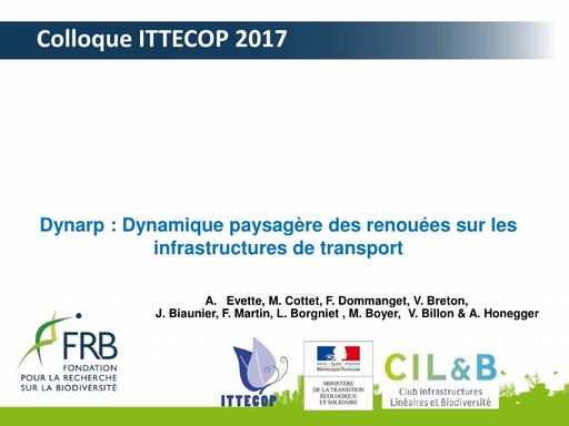 DYNARP Colloque ITTECOP octobre 2017