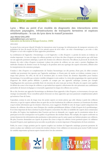 Seminaire 2013 Fiche Lynx