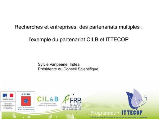 00 ITTECOP Présentation de Sylvie Vanpeene, présidente du conseil scientifique