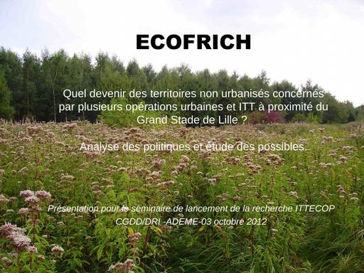 Seminaire 2012 ppt ECOFRICH