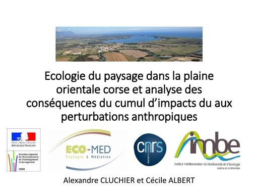 42 Ecologie du paysage dans la plaine orientale corse   Alexandre CLUCHIER   ECOMED et Cécile ALBERT  IMBE