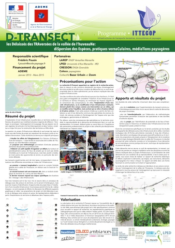 Seminaire 2015 poster D Transect
