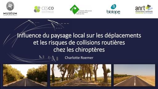 A3 ROEMER Charlotte, Influence du paysage local sur les déplacements et les risques de collisions routières chez les chiroptères