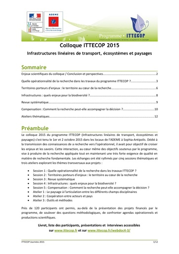 Seminaire 2015 synthese