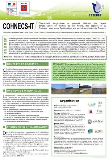 Seminaire 2015 poster Cohnecs IT