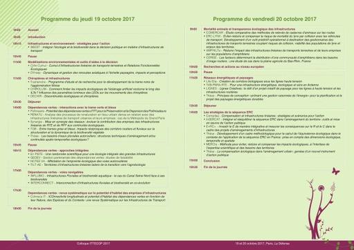 Programme Ittecop 2017