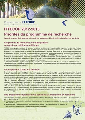 Plaquette ITTECOP 2012