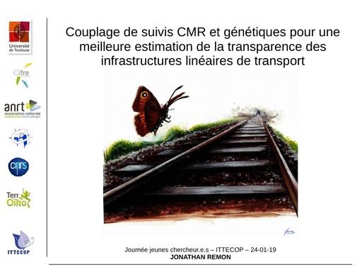 A5 REMON Jonathan, Couplage de suivi CMR et génétiques pour une meilleure estimation de la transparence des infrastructures linéaires de transport
