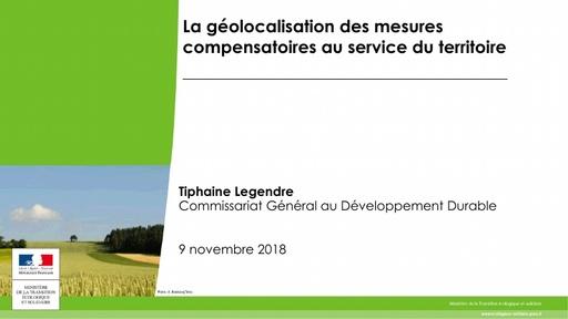 31 La géolocalisation des mesures compensatoires au service du territoire   Tiphaine LEGENDRE   CGDD