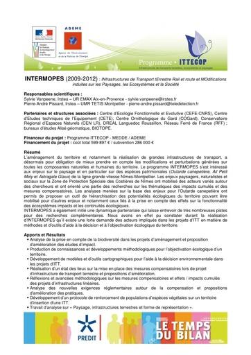 Seminaire 2013 Fiche INTERMOPES