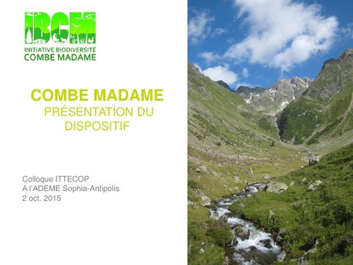 Seminaire 2015 ppt Combe Madame