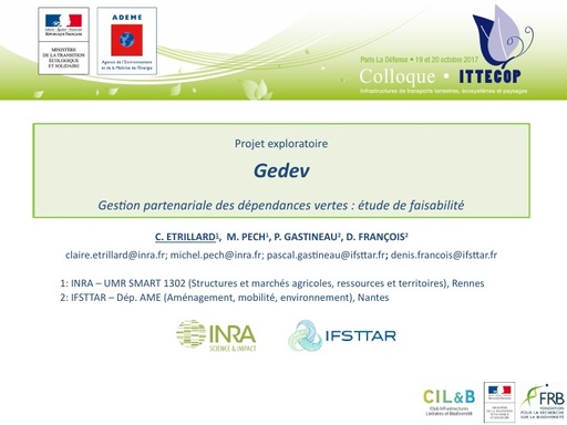 GEDEV Colloque ITTECOP octobre 2017