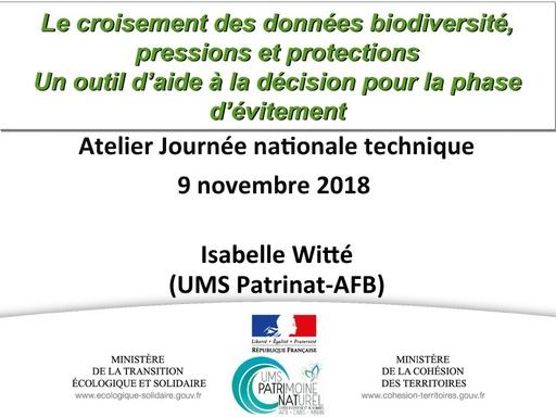 32 Le croisement des données biodiversité, pressions et protections   Isabelle WITTE   UMS Patrinat AFB