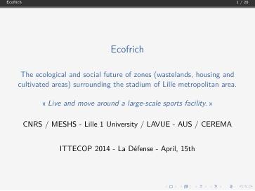 Seminaire 2014 Presentation Ecofrich