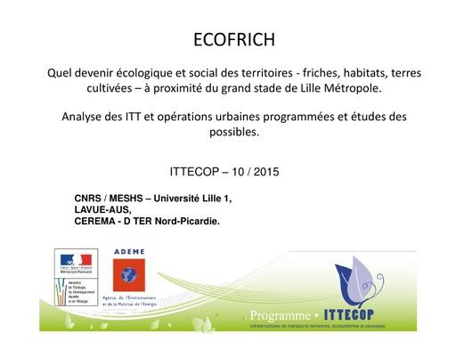Seminaire 2015 ppt ECOFRICH