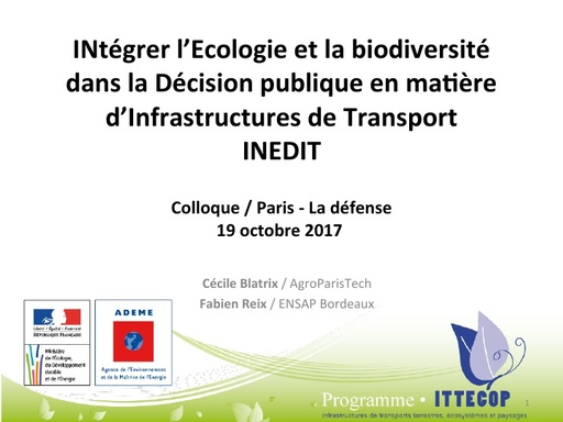 INEDIT Colloque ITTECOP octobre 2017
