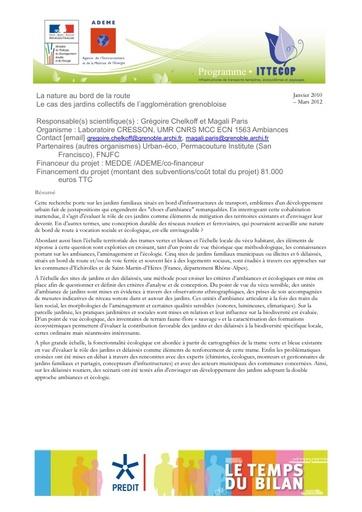 Seminaire 2013 Fiche Nature Route